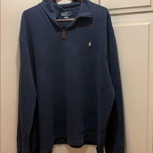 Ralph Lauren Quarter Zip Blue Sweater - Size XXL